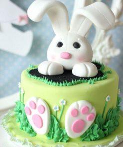 """Праздничный торт """"Пасхальный зайчик"""" ПТ106 фото"""
