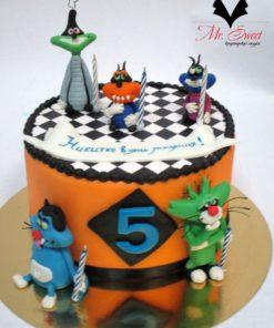 Детский торт Огги и Кукарачи ДТ25 фото