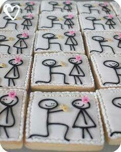 """Свадебное печенье """"Признание"""" СВ11 фото"""