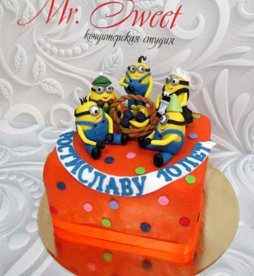 Детский торт Миньоны ДТ 6 фото