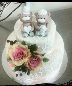 Свадебный торт с мишками СВ57 фото
