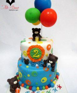Детский торт Мишки ДТ23 фото