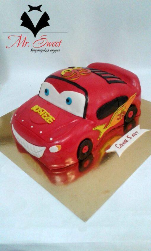Детский торт машинка Маквин ДТ2 фото