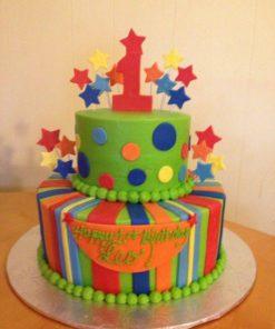 Детский двухъярусный торт ДТ113 фото