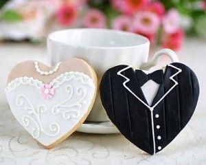 """Свадебный пряник """"Жених и невеста"""" СВ5 фото"""