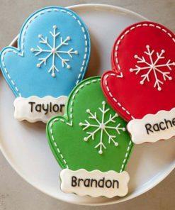 Детское печенье Новогодняя рукавичка ДП4 фото
