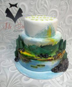 """Праздничный торт """"Остров"""" ПТ100 фото"""