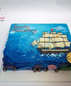 Праздничный торт Морской ПТ19 фото