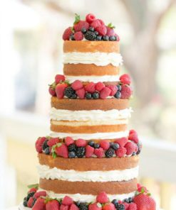 Свадебный торт с открытыми коржами СВ74 фото
