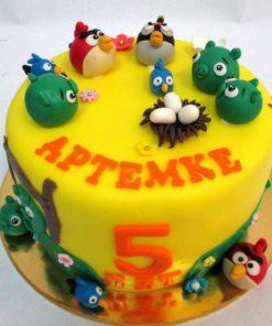 Детский торт Angry Birds ДТ19 фото