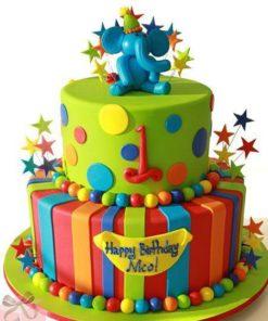 Детский двухъярусный торт ДТ123 фото