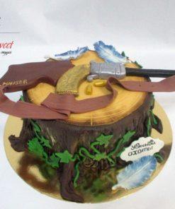 Праздничный торт Охотнику ПТ104 фото