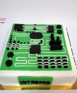 Корпоративный торт для компании КТ5 фото