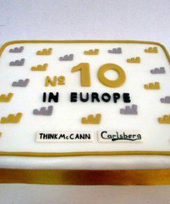 Корпоративный торт для компании КТ8 фото