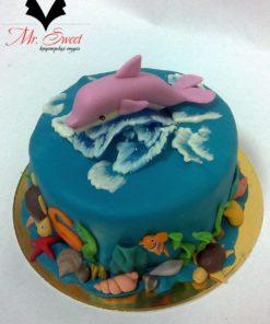 Детский торт Дельфин ДТ17 фото