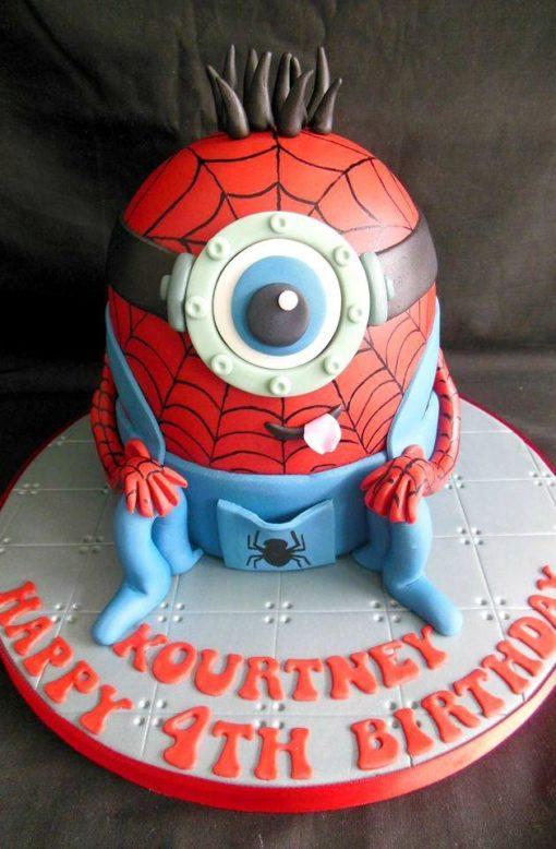 Праздничный торт Миньон - человек паук ПТ85 фото