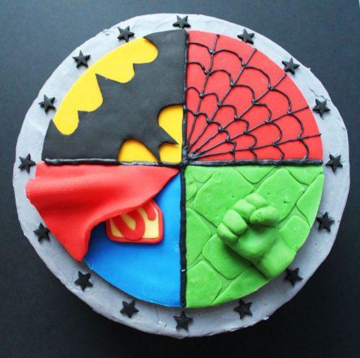 Детский торт Супергерои ДТ119 фото