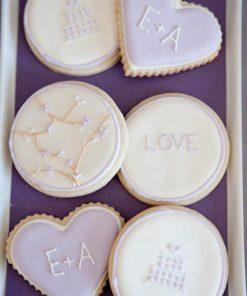 Свадебное печенье СВ14 фото
