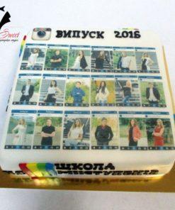 Корпоративный торт на выпускной КТ10 фото