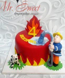 Детский торт Пожарный ДТ9 фото