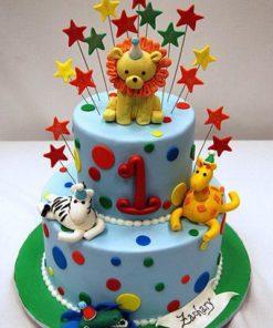 Детский двухъярусный торт ДТ118 фото