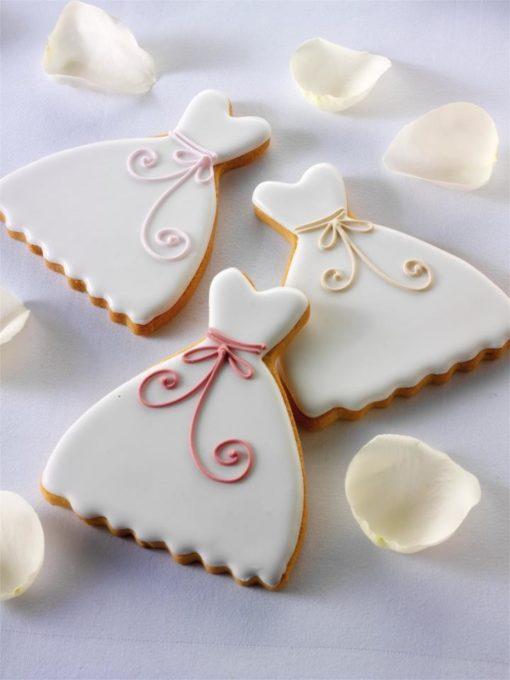 Свадебное печенье в виде платья невесты СВ13 фото
