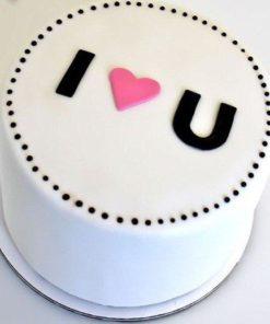 Праздничный торт I love U ПТ31 фото