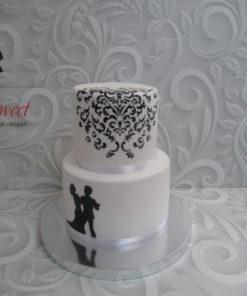 Свадебный торт с разрисовкой СВ21 фото