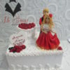 Свадебный торт с фигурками СВ17 фото