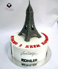Корпоративный торт на день рождения компании КТ13 фото