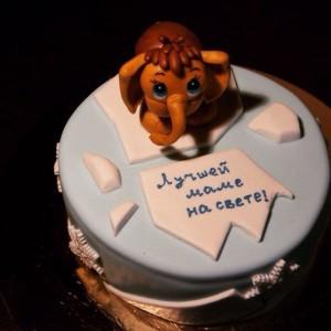 Праздничный торт Мамонтенок ПТ38 фото