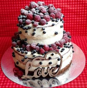 Праздничный торт с ягодами ПТ37 фото