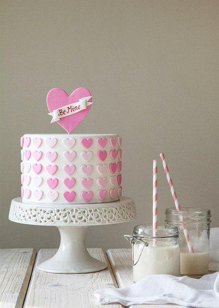 Праздничный торт Сердечки ПТ30 фото