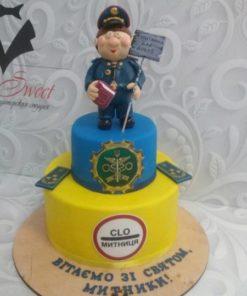 Праздничный торт для работников таможни ПТ3 фото