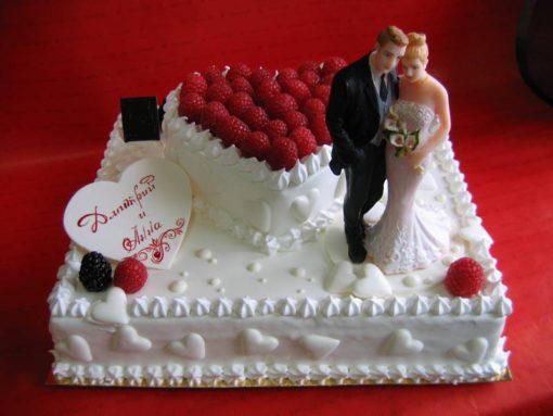 Торт без мастики на свадьбу БМ21 фото