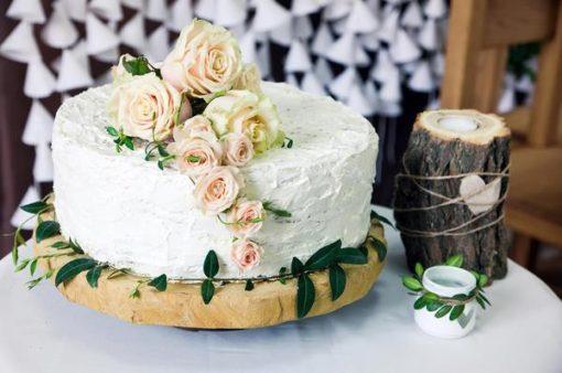 Торт без мастики с розами БМ17 фото