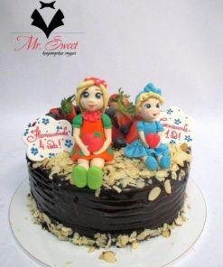 Торт без мастики БМ2 фото