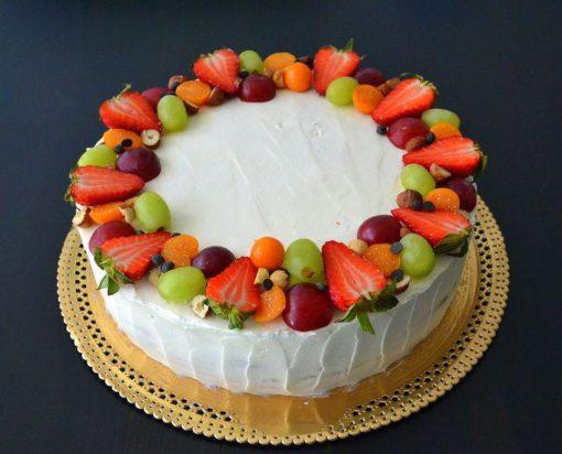 Торт без мастики с ягодами БМ23 фото