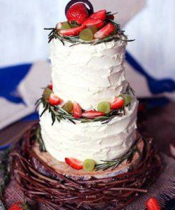 Открытый торт без мастики БМ11 фото