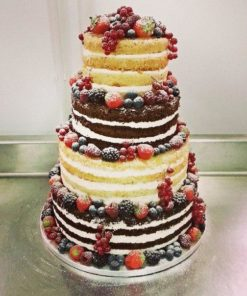 Четырехъярусный открытый торт без мастики БМ12 фото
