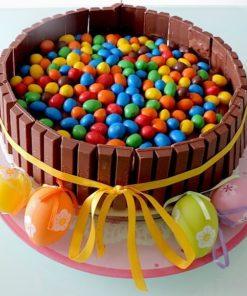 """Торт без мастики """"Бочонок радуги"""" БМ4 фото"""