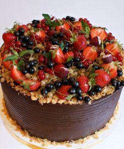 Открытый торт без мастики с ягодами БМ3 фото