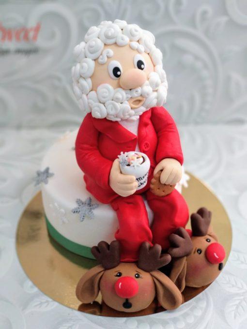 Новогодний торт Санта НТ6 фото