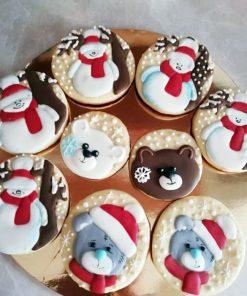 Новогоднее печенье Веселая компания НП4 фото