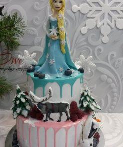 Новогодний торт Эльза 5 фотоНТ5