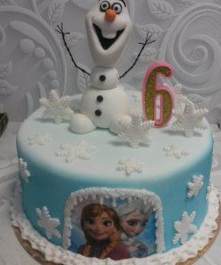 Новогодний торт Снеговик НТ5 фото